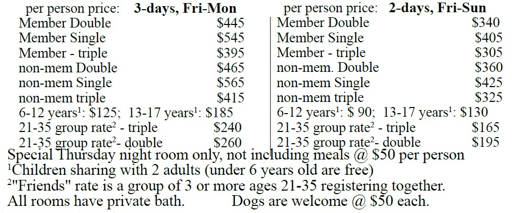 Spring Weekend 2017 Pricing